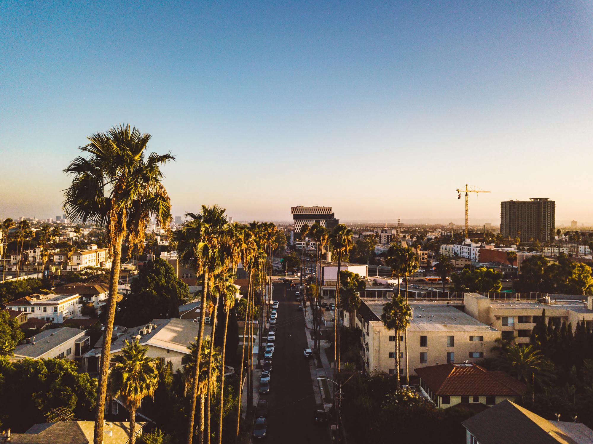 Los Angeles – se kjendisbyen fra leiebil